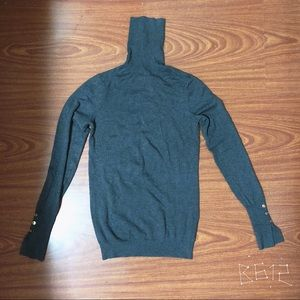 Zara Grey Turtleneck Knit Sweater Like New